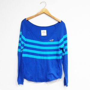 Hollister Striped Wide Neck Sweater